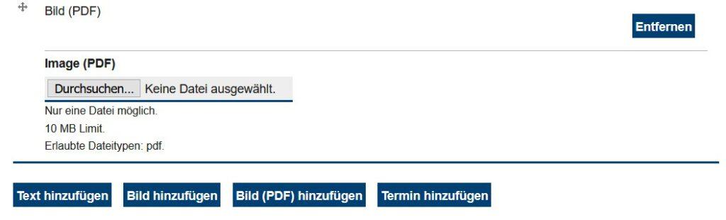 PDF einpflegen